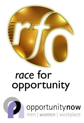 Opportunity Now and Race for Opportunity logos