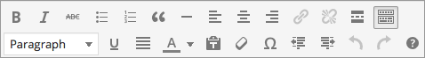 Editing tips - toolbar